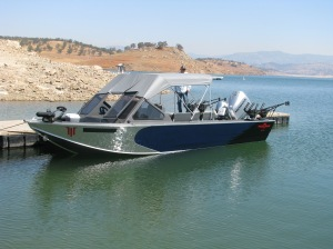 The 24 foot Willie Boat is very comfortable to fish out of.