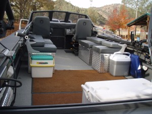 The 24 foot Willie Boat has seating for up to six people, we can add or take out seats for your comfort